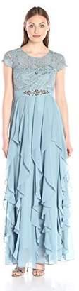 Decode 1.8 Women's Blue Cap Sleeve Corkscrew Lace Dress
