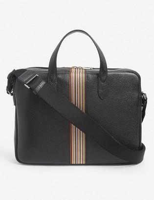 Paul Smith Artist Stripe leather satchel