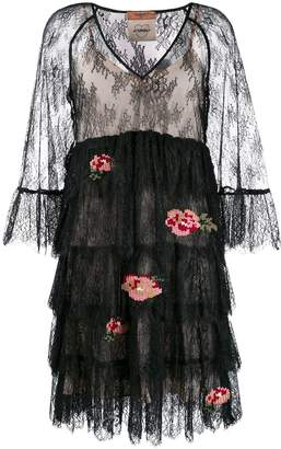 Twin-Set floral lace dress