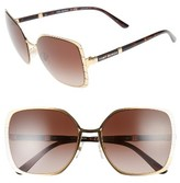 Tory Burch Women's 57Mm Gradient Square Sunglasses - Gold/ Silver