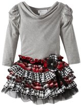 Bonnie Jean Girls 7-16 Knit To Plaid Tiered Dress