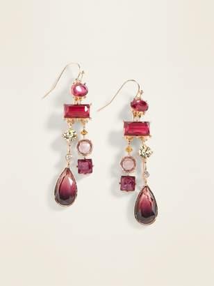 Old Navy Burgundy Multi-Bead Drop Earrings for Women