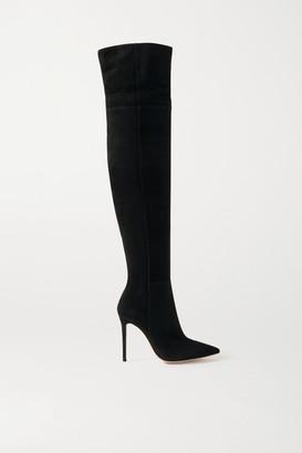 Gianvito Rossi 105 Suede Over-the-knee Boots - Black
