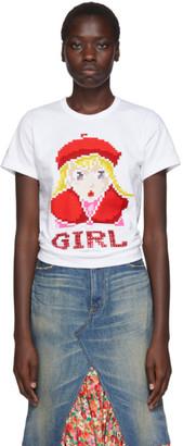 Comme des Garcons White Beret Girl T-Shirt