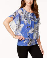 JM Collection Printed Banded-Hem Top, Created for Macy's