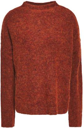 Line Melange Brushed Knitted Sweater