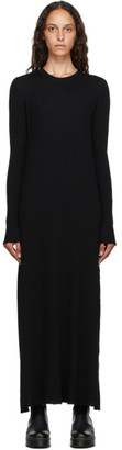 Marques Almeida Black Rib Knit Long Dress