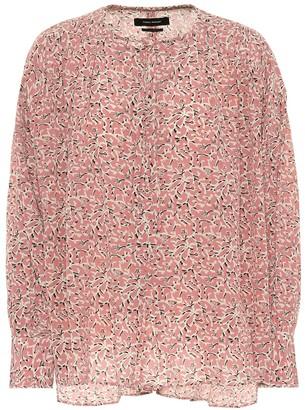Isabel Marant Amba printed stretch silk blouse