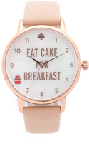 Kate Spade Metro Eat Cake for Breakfest Watch