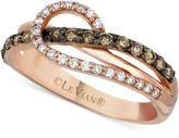 LeVian Le Vian Chocolatier® Diamond Loop Ring (1/2 ct. t.w.) in 14k Rose Gold