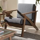 Baxton Studio Cayla Mid-Century Modern Arm Chair