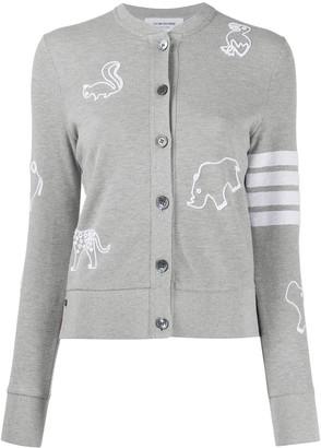 Thom Browne Animal-Embroidery Cardigan