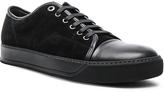 Lanvin Suede & Nappa Captoe Low Top Sneakers