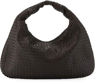 Bottega Veneta Veneta Intrecciato Large Hobo Bag, Gray