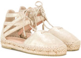 Aquazzura Mini - lace-up espadrilles - kids - Raffia/Leather/Suede/rubber - 24
