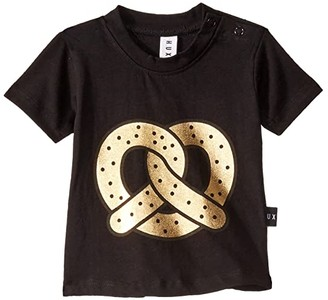 HUXBABY Pretzel T-Shirt (Infant/Toddler) (Black) Kid's Clothing