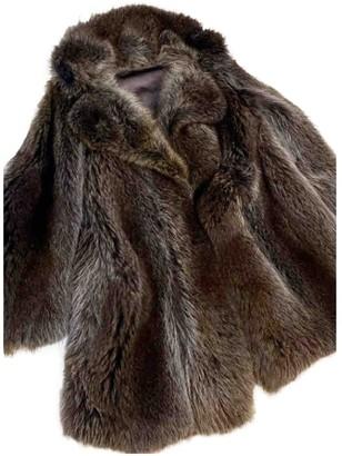 Italia Independent Blue Raccoon Coats