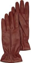 Forzieri Burgundy Leather Women's Gloves w/Wool Lining