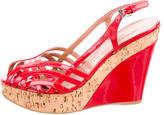 Alaia Slingback Wedge Sandals
