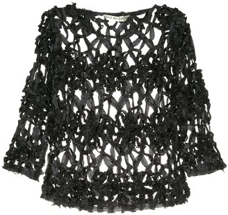 Comme Des Garçons Pre-Owned Loose Cut Out Top