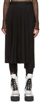 Junya Watanabe Black Pleated Pant Skirt Trousers