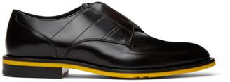 Fendi Black Leather Slip-On Derbys