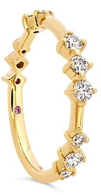 Hayley Paige for Hearts on Fire 18K Yellow Gold Love Code Band with Diamonds