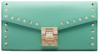 MCM Patricia Studded Leather Clutch