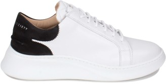 Crafted Society Matteo Low Sneaker - White & Black Full Grain Leather / White Outsole