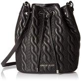 Armani Jeans Braid Pattern Eco Leather Bucket Bag