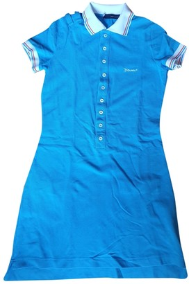 DSQUARED2 Turquoise Cotton Dresses