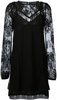 McQ by Alexander McQueen lace overlay dress - women - Cotton/Polyester/Polyimide - 42