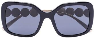Versace Black square oversized sunglasses