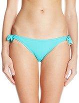 Kensie Women's Solid Tie-Side Bikini Bottom