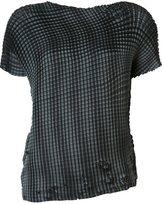 Issey Miyake 'Grid Pleats' T-shirt - women - Polyester - 2