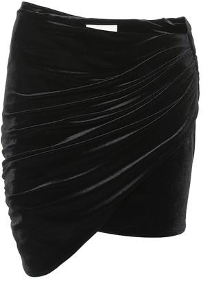 Alexandre Vauthier Velvet miniskirt