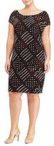 Lauren Ralph Lauren Plus Geometric-Print Jersey Dress