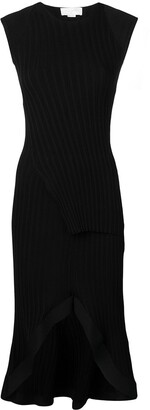 Esteban Cortazar Ribbed Knit Peplum Dress