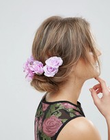 Asos Statement Lily Rose Back Hair Clips