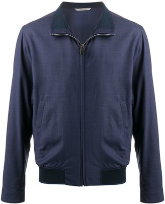 Canali Fine Knit Zipped Jacket
