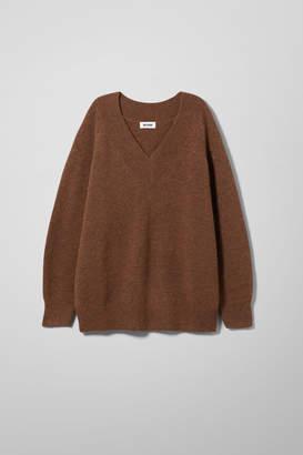 Weekday Peyton V-neck Sweater - Beige