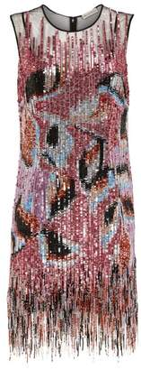Emilio Pucci Sequinned Dress With Fringe