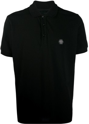 Philipp Plein Logo Plaque Polo Shirt