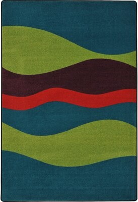 "Joy Carpets Flow Tropics Kids Rug Rug Size: 7'8"" x 10'9"""