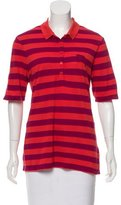 Burberry Striped Polo Top