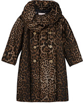 Lanvin LEOPARD-JACQUARD CHANNEL-STITCHED COAT-BLACK, BROWN, NO COLOR SIZE 6
