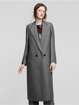 Calvin Klein Collection Wool + Silk Chine Coat