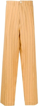Nicholas Daley Wide Leg Striped Trousers