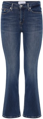 Calvin Klein Jeans Mid Rise Cropped Flared Jeans