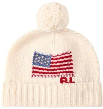 Polo Ralph Lauren Logo Intarsia Merino Wool Beanie Hat